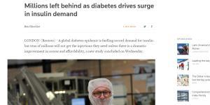 Търсенето на инсулин глобално се покачва и създава реална опасност от недостиг